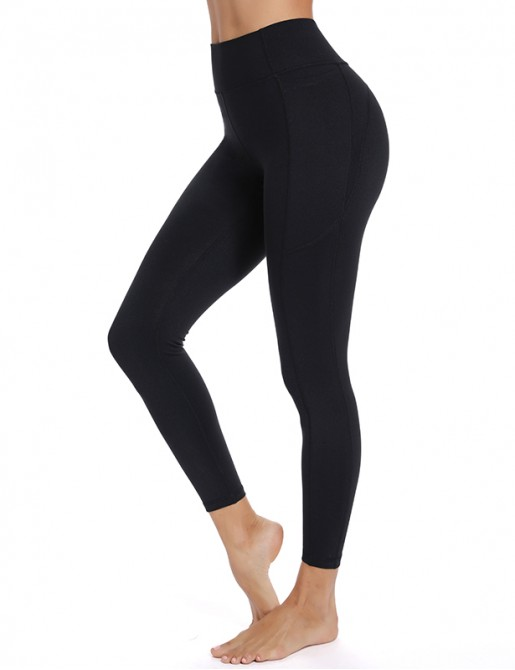 Mid Waist Activewear Yoga Pants Slimming Tummy Control Running Leggings