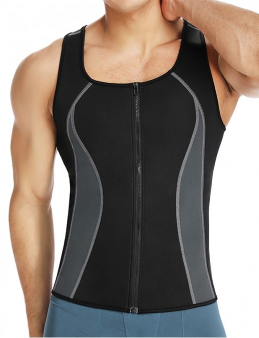 Neoprene Workout Zipper Tank Tops Sweat Sauna Suits Waist Trainer